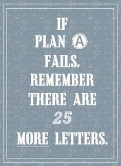 Wenn Plan A nicht funktioniert, denk daran: es gibt noch 25 weiter Buchstaben ;-)