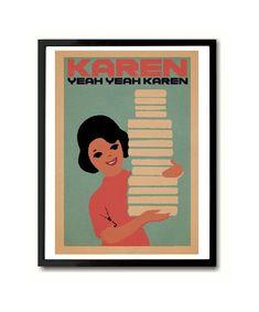 Go Betweens Karen Librarian Art Print David Bowie Art, Joy Division, Indie Pop, Typography Art, All Print, Order Prints, Etsy