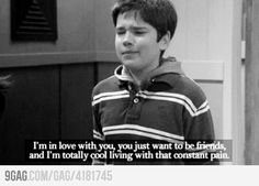 Heartbreak iCarly style- I love Freddy Movies Showing, Movies And Tv Shows, Icarly And Victorious, Sam And Cat, Super Quotes, Old Tv, Crush Quotes, Im In Love, Funny Posts