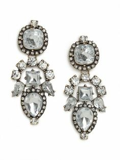 Bauble Bar glam earrings.