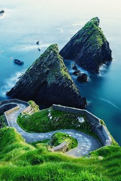 Dunquin Pier is the setting off point for the Ferry to The Great Blasket Island, Ireland