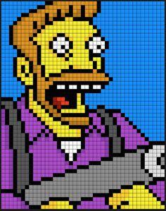Hank Scorpio - The Simpsons  perler bead pattern by Kyle McCoy