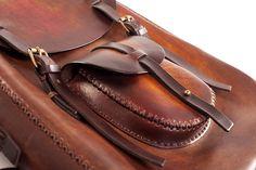 Large shoulder bag DiRounded 201  #leather #handmade #romania