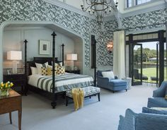 Gorgeous #bedroom with easy access to the outdoors | Taylor & Taylor, Inc.
