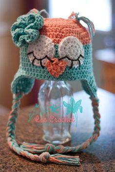 c85de9aeba5 Items similar to Sleepy LeeAnne Owl Earflap Hat - FREE Ship to USA on Etsy