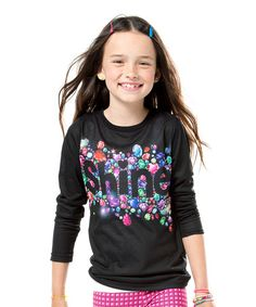Black Gem 'Shine' Tee - Girls #zulily #zulilyfinds