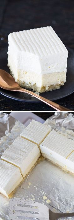 The Macadamia Nut crust!❤️ This recipe for Vanilla Bean Cheesecake bars on a buttery macadamia nut crust is easy, decadent, and delicious! A giant, beautiful dessert for company. Vanilla Bean Cheesecake, Cheesecake Bars, Cheesecake Recipes, Cheesecake Cupcakes, Vegan Cheesecake, 13 Desserts, Brownie Desserts, Dessert Recipes, Oats Recipes