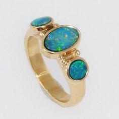 Black Opal Dress Ring