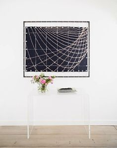 love this lucite console table / domino