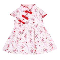 Clothing Sets Girls' Clothing Gentle Gold Girls Qipao Sets 2019 Summer Baby Girls Clothes Set Children Clothing Top Quality 0 1 2 3 4 Years Rose Flower Girl Dress