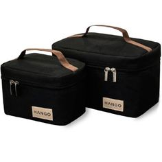 Hango Adult Lunch Box Insulated Lunch Bag Large Cooler Tote Bag (Set of 2 Sizes) For Men and Women, Black Lunch Boxes For Men, Cool Lunch Boxes, Lunch Box Cooler, Lunch Box Set, Food Cooler, Mens Lunch Bag, Best Lunch Bags, Adult Lunch Bag, Beach Bag Essentials