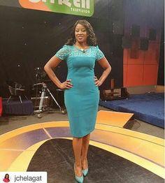 Hotter than most!! Citizen TVs KANZE DENA shows off her curves