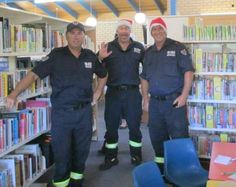 With the help of the local fire brigade Santa paid a visit to story time at Yamba library, much to the thrill of the children present. The children had an opportunity to visit with the fire truck in the library courtyard, as well as spend time with their favourite man in red.