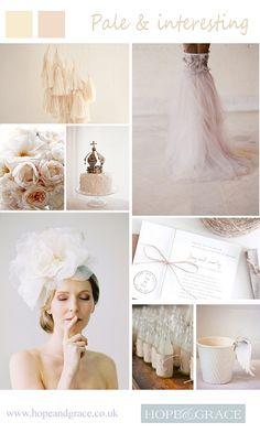 Pale & interesting romantic wedding by Hope & Grace
