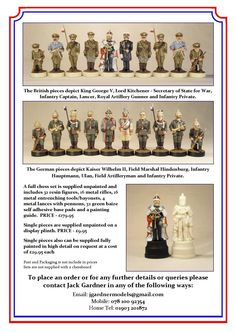 WW1 commemorative chess set. To order or more details email jgardnermodels@gmail.com