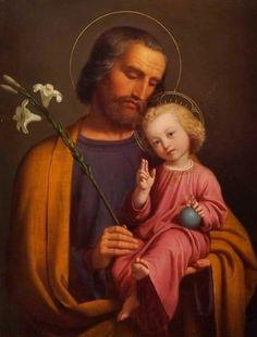 """""""Nigdy nie słyszano, by ta modlitwa zawiodła..."""" Starożytna modlitwa do św. Józefa, która działa cuda - Wiesz Mary And Jesus, Jesus Is Lord, Religious Images, Religious Art, Litany Of St Joseph, St Josephs Day, Jesus Face, Blessed Virgin Mary, Catholic Saints"""