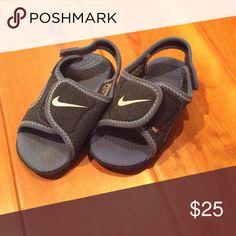 de02b481e Nike Sunray adjust blue sandals 386519 size 6 Velcro closure Adjustable  back strap Excellent condition Nike Shoes Sandals & Flip Flops