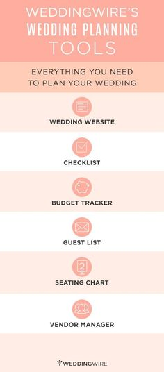 Sign up to start using these free wedding planning tools!