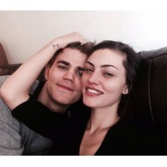 Pin for Later: 20 Times Paul Wesley and Phoebe Tonkin Were Too Cute For Instagram When They Just Couldn't Keep Their Hands Off Each Other