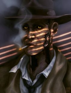 Fallout 4 Nick Valentine, Fallout Fan Art, Scrolls Game, Detective, Inspector Gadget, Fall Out 4, Fallout New Vegas, Valentines Art, Skyrim
