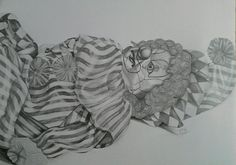 Clown Doll Drawing by Caroline © Kimberley