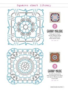 from Granny square collection 2016 Crochet Mandala Pattern, Granny Square Crochet Pattern, Crochet Blocks, Crochet Diagram, Crochet Chart, Crochet Squares, Crochet Stitches, Crochet Patterns, Crochet Wool
