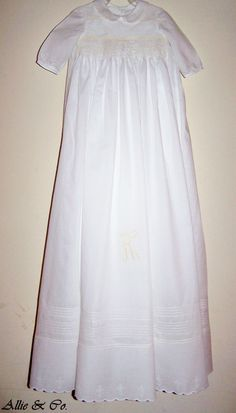 Classic boy's Christening gown I made for a client.  Swiss batiste 42 inches long