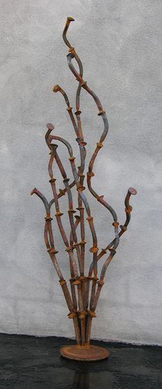 Oscillating Ocotillo, A Desert Plant Free-standing Sculpture - Kevin Caron