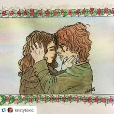 Our Jamie and Claire  #Repost @kristytoxic with @repostapp. ・・・ Quick sketch/ watercolor of Outlander's main chars. Claire & Jamie. #watercolor #art #artlove #artflow #igart #ilustration #outlander