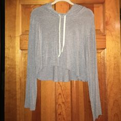 Cropped grey sweatshirt Soft comfy material Brandy Melville Tops Sweatshirts & Hoodies