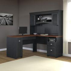 sauder barrister lane l-shaped desk - the sauder barrister lane l