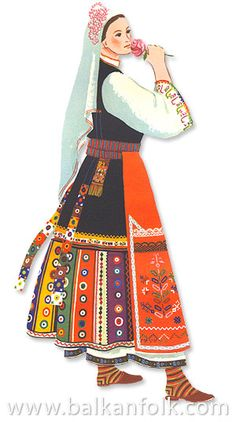 bulgarian Folk costumes Ethnic Outfits, Ethnic Clothes, European Dress, Costumes Around The World, Folk Dance, Folk Embroidery, Embroidered Tunic, Folk Costume, My Heritage