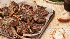 Real Living recipe for Minted spring lamb cutlets with yellow squash, tomato and bean salad