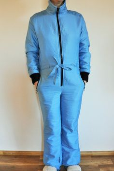 59fac33e1d Vintage One Piece Skiing Suit   Ski   Suit   Blue   Jacket   40   S   Small  to Medium   m   Onepiece   Skiing   Costume   Overall   Overalls