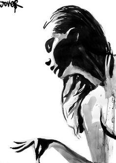 "Saatchi Online Artist Loui Jover; Drawing, ""finesse"" #art"