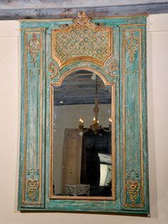 Grand Scale 19th c. Painted Italian Trumeau image 2