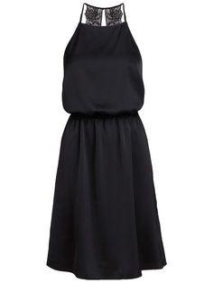 LACE DETAILED MINI DRESS, Black, large