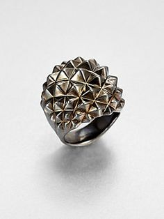 Stephen Webster Sterling Silver Studded Dome Ring