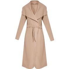 Veronica Camel Oversized Waterfall Belt Coat (1.800 RUB) ❤ liked on Polyvore featuring outerwear, coats, belted coat, coat with belt, belt coat, oversized coat and beige coat