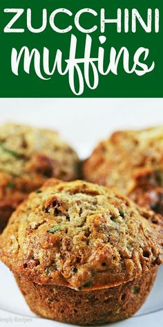 The BEST zucchini bread muffins EVER Moist sweet packed with shredded zucchini walnuts dried cranberries and spiced with vanilla cinnamon and nutmeg On Zucchini Bread Muffins, Best Zucchini Bread, Zucchini Muffin Recipes, Shredded Zucchini Recipes, Healthy Muffin Recipes, Best Muffin Recipe, Best Zucchini Recipes, Chocolate Zucchini Muffins, Zucchini Bites