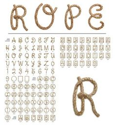 rope signs with letter I - Google Search