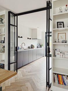 Kitchen Room Design, Home Room Design, Home Interior Design, Interior Architecture, House Design, Interior Modern, Flur Design, Design Design, Room Divider Doors