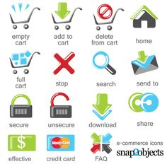 Free Vector E-Commerce Icons