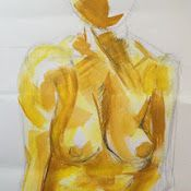 Acrylic combined with conte on paper by Mary-Jean Dudok de Wit.