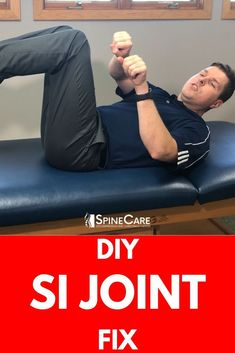 In this video, Dr. Rowe shows how to pop the SI Joint for INSTANT RELIEF. He goes over three DIY at home exercises that may help pop, crack, or reset the SI joint. Sciatica Exercises, Back Pain Exercises, Aerobic Exercises, Si Joint Pain, Hip Pain, Neck Pain, Sacroiliac Joint Dysfunction, Hypermobility, Health And Fitness Articles