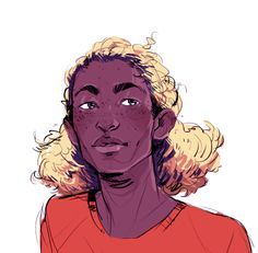 warm up sketch of enjolras, bc why have a consistent character design when you can just not do that