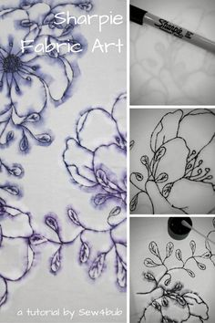 Fabric printing with Sharpies                                                                                                                                                                                 More