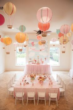 Carried Away Hot Air Balloon Birthday Party via Kara's Party Ideas KarasPartyIdeas.com #hotairballoonparty (9)