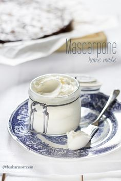 ... home made mascarpone ...