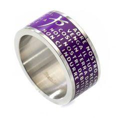 Ring Vaterunser INOX LUX violett | Online Verfauf auf HOLYART
